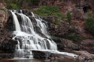 Gooseberry Falls, Minnesota....with a large population center real close by and us being there on the weekend this favorite is jamed with people. This shot took thirty minutes to get because of people in the falls. Above average railfall earlier in the week helped with water volume.