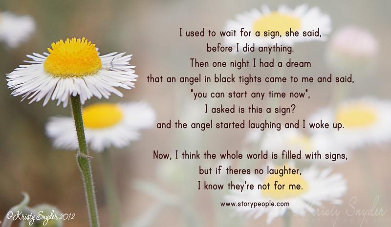 Verse, angel, dream laugh