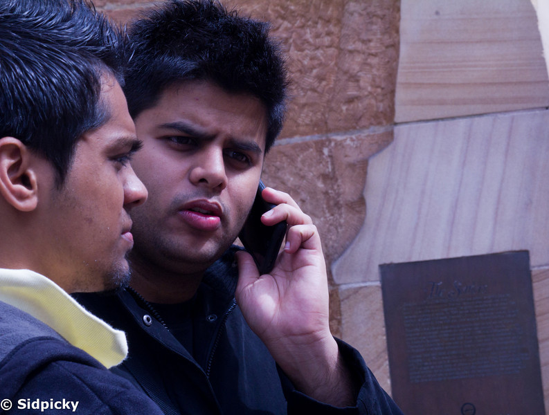 Sir Robin providing Prince Dhaval with some cellular solutions. Notice the overall symmetry of the hair in this picture.