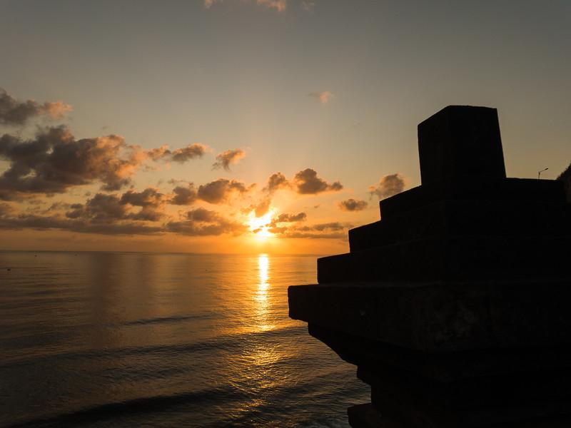 The breathtaking sunset from Uluwatu