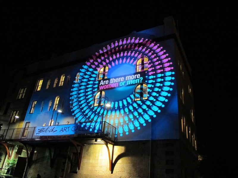 Wall visualizations as part of the Vivid Sydney Festival.