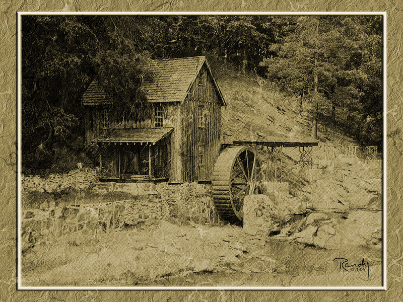"Gresham's Mill in Canton,GA.<br /> ""Old Paper"" Effect"