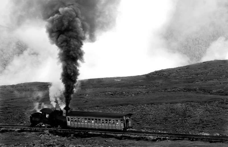 This mountain-climbing cog railway takes passengers to the top of Mount Washington.