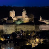 Fougeres by night, Old Town, Fougeres, Bretagne, France; © Joerg Muehlbacher