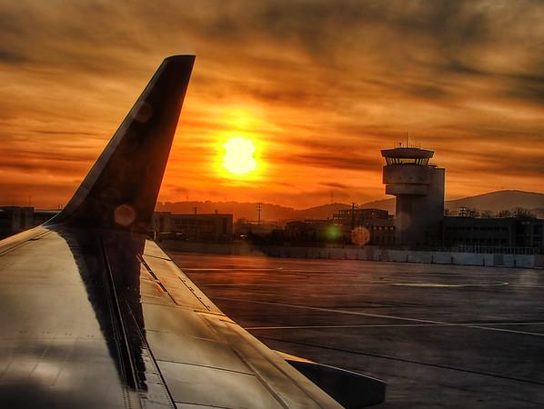 Istanbul Sunset at Pendik Airport