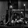 Candle Light b&w