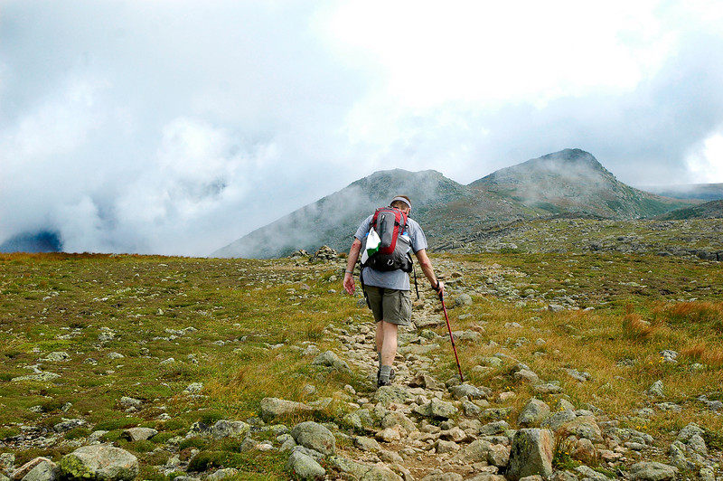Crossing the mountain ridge.