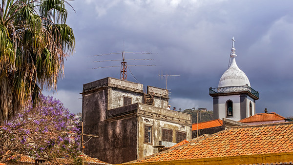 Cloudy sky in Funchal