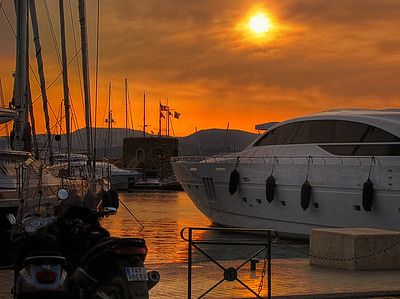 Sunset at St Tropez port