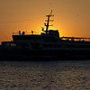 Ferryboat Twilight, Ferry boat silhouette in Istanbul twilight, Bosporus, Kadikoey, Istanbul, Turkey; © Joerg Muehlbacher