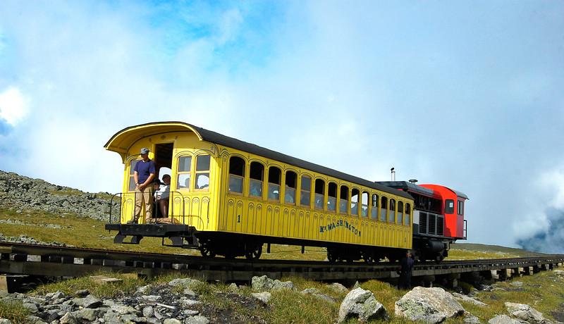 This mountain-climbing cog railway takes passengers to the top of Mount Washington.