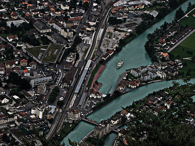 Birds Eye View of Interlaken-West
