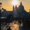 November sun in Venice, from Schiavone's Bridge, Riva degli Schiavone, Venedig, Venetien, Italy; © Joerg Muehlbacher