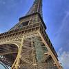 Tour Eiffel avec ciel bleu