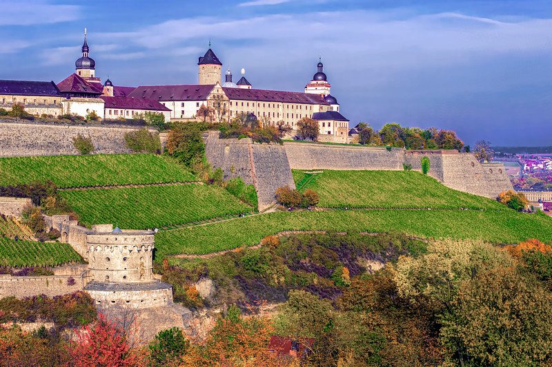Festung Marienberg, Fortress 'Marienberg', overlooking the city of Wuerzburg on a bright autumn day., Leistenstraße 41, 97082 Würzburg, Germany, Würzburg, Bavaria, Germany; © Joerg Muehlbacher