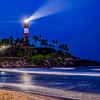 Kovalam Beach by night, after a hazy pre monsum day in may... Humidity and closeness in the air are still unbearable, Kovalam, Trivandrum, Kerala, India; © Joerg Muehlbacher