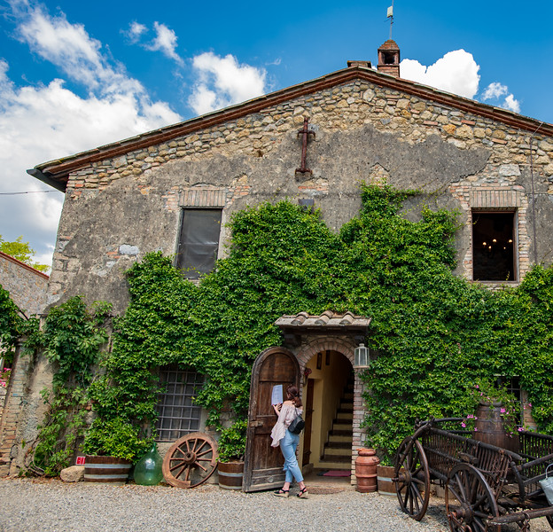 The Fattoria San Donato farm/winery in Tuscany.