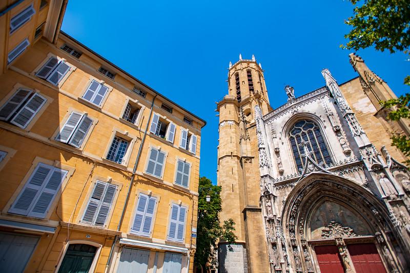 Saint-Sauveur cathedral, in Aix-en-Provence, France