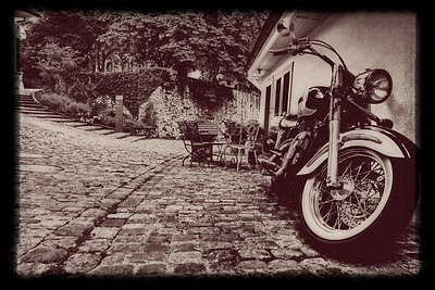Motorcycle in old Thun