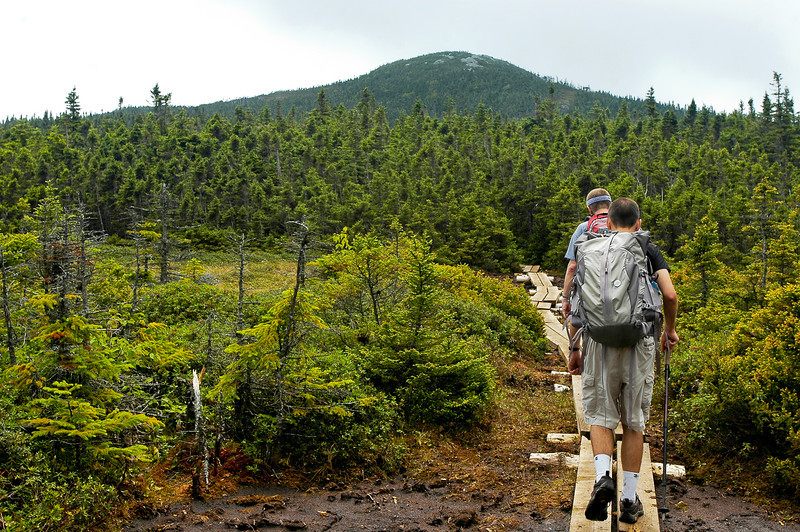 On the first day of the hike, we traveled up to the peak of Mount Jackson, seen in the distance.