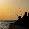 Istanbul Fishermen enjoying Sunset