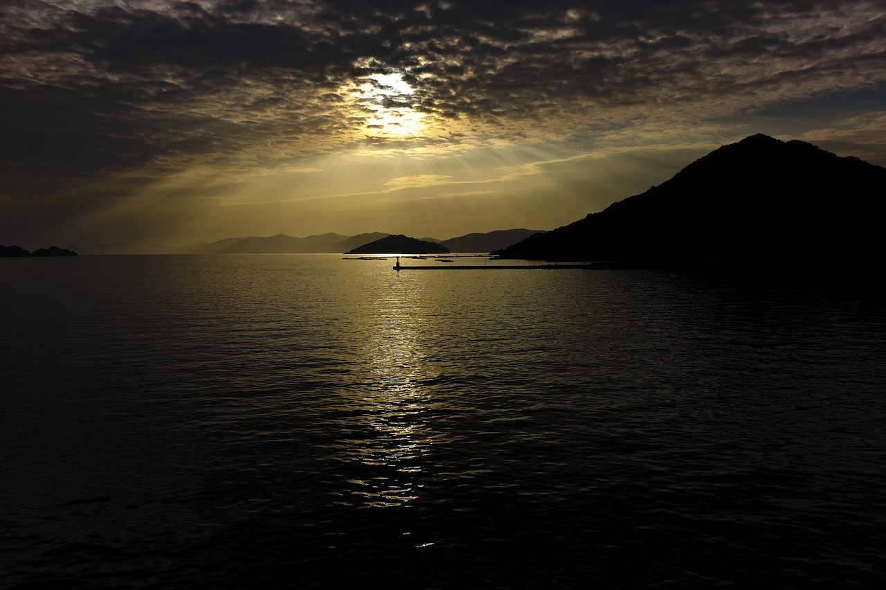 Sunset over the islands of west Shikoku