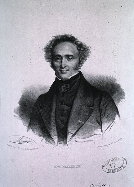Jean Cruveilhier (1791-1874)<br /> <br /> French anatomist and pathologist – Cruveilhier made important contributions with his studies of the nervous system. He described the pathology of neuronal lesions observed in what is now known as multiple sclerosis and was the first to record the clinical history of a patient with the disease. His name is associated with Cruveilhier's sign among others.