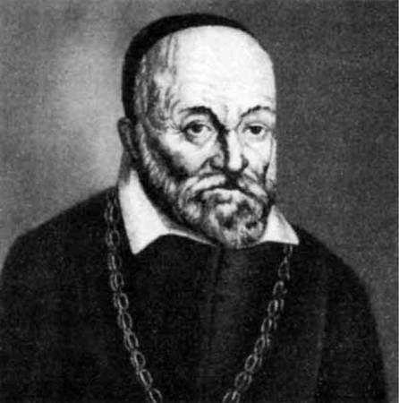 """Hieronymus Fabricius (1537-1619)<br /> <br /> Italian anatomist and embryologist popularly known in medical science as """"The Father of Embryology."""" After receiving a Doctor of Medicine degree, Fabricius became a professor of surgery and anatomy at the University of Padua. In 1594, he revolutionized the teaching of anatomy when he designed a public theatre for anatomical dissections. Additionally, Fabricius contributed much to the field of surgery specifically tracheotomies even though he actually never performed one. He favored using a vertical incision and was the first to introduce a tracheotomy tube, similar to procedures that are used today."""