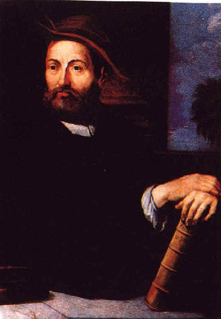 "Andrea Cesalpino (1524-1603)<br /> <br /> Italian physician, philosopher, and botanist who classified plants according to their fruits and seeds rather than by their alphabetical or medicinal properties. He theorized that blood circulation consisted of a type of ""chemical circulation"" involving evaporation and condensation rather than a ""physical circulation."""