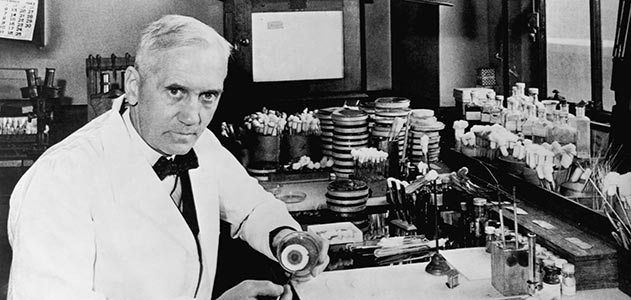 Sir Alexander Fleming (1881-1955)<br /> <br /> A Scottish biologist and pharmacologist who wrote numerous articles on bacteriology, immunology and chemotherapy. He is most credited for the discovery of enzyme lysozyme in 1923 and, more importantly, the antibiotic substance of penicillin in 1928 for which he shared part in the Nobel Prize in Physiology or Medicine in 1945.