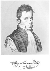 Rene Theophile Hyacinthe Laennec (1781-1826)<br /> <br /> A French physician who invented the stethoscope in 1816 and pioneered its use in diagnosing chest conditions. He became a lecturer at the College de France in 1822 and professor of medicine in 1823.