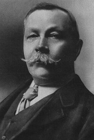 Sir Arthur Conan Doyle (1859-1930)<br /> <br /> Scottish physician and writer, most noted for his stories about the detective Sherlock Holmes. Doyle began writing when he was studying medicine at the University of Edinburgh. He was employed as surgeon on the ship SS Mayumba during a voyage to the West African coast. His doctorate was on the subject of tabes dorsalis. He later studied ophthalmology and set up a practice in London.