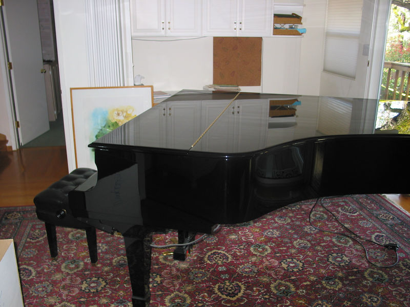 The piano, in it's initial state