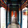"A corridor in the ""forbidden city"" Beijing China."