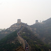 "Climbing the ""Great Wall"". <br /> Not too far outside of Beijing."