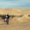 Me riding a dirt bike at Glamis Dunes, California.
