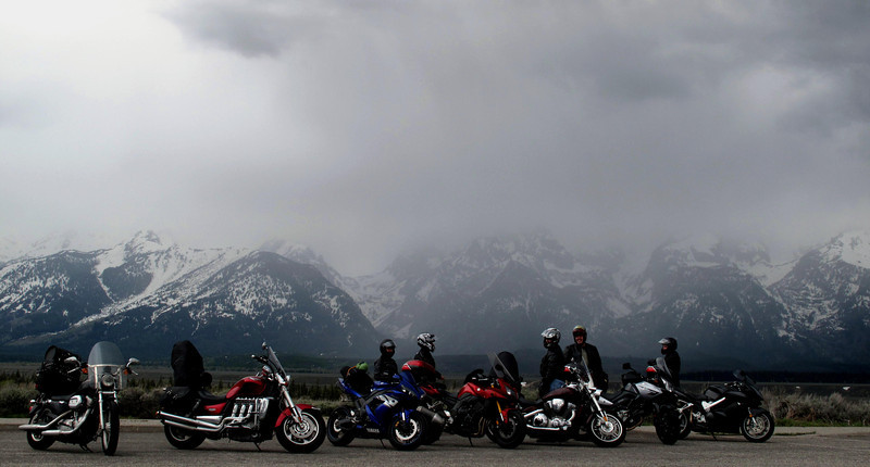 Riders on the Storm.<br /> One of my favorite pictures.<br /> Me and 6 guys riding 4,500 miles from Arizona into Canada and back. :)