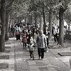 People walking at the Summer palace near Beijing China.