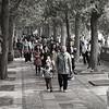 People walking at the Summer palace near Beijing China.