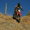 Me going down a rocky hill, Arizona Desert