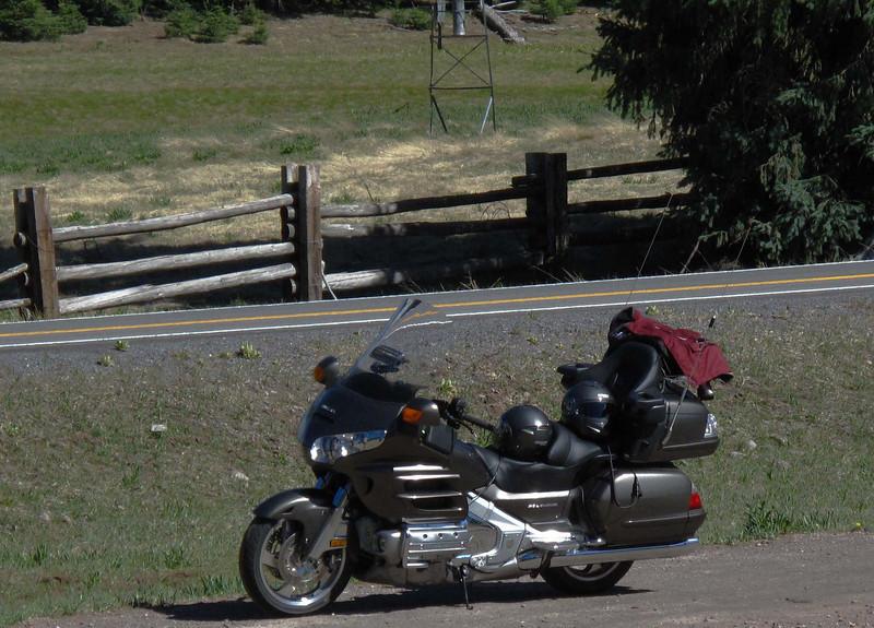 My Goldwing motorcycle in Northern Arizona