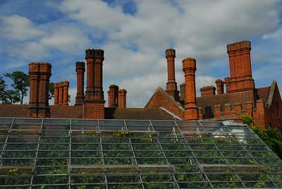 Chimneys and greenhouse, Hampton Court.
