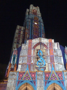 University of Pittsburgh Cathedral of Learning - Projection Mapped - iPhone photo