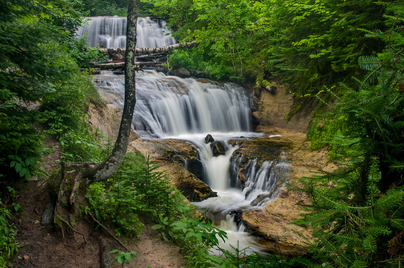 One of the many waterfalls in the Pictured Rocks National Lakeshore.