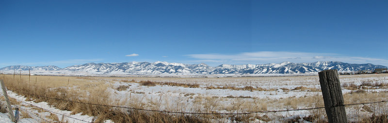 The Bridger mountain range from Belgrade, MT just a few blocks from our house.