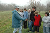Bill talking to Seven Hills School students about planting native grass.