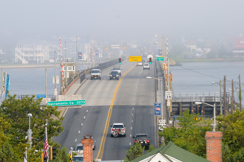 Unusual perspective of the rt50 bridge. Wish there was no haze.....