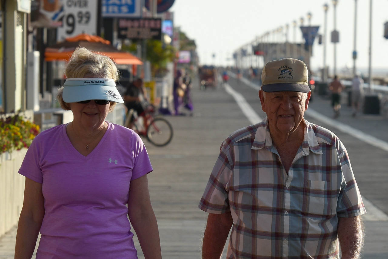 Mayor Powell and Jeanne on the boardwalk this morning, 6/17 2015