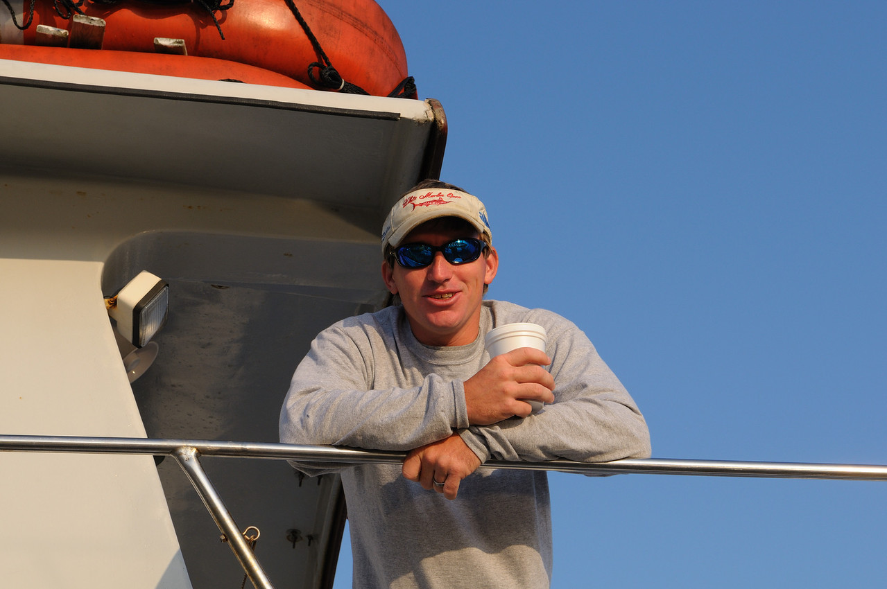 """Capt Chris of the headboat """"Angler"""" heads out Saturday of Labor Day weekend......."""
