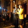 The Mayor of  Dikranagert, Osman Baydemir, and his wife, Reyhan Yalçındağ, welcome pilgrims at St. Giragos Church.